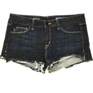 Fade To Blue Denim Cutoff Shorts Released Hem 31